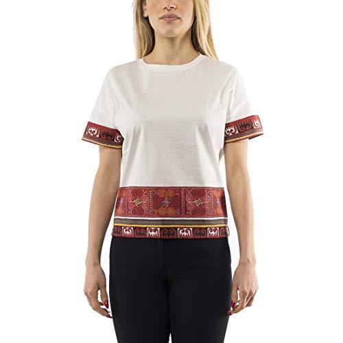 Max Mara Weekend Tuc t-Shirt Donna Manica Corta Stampata Taglia : L Colore : Rosso
