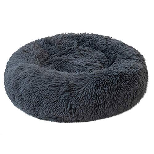 Cama redonda super suave para mascotas, cama de donut para interiores, hogar, gato, gato, cama para mascotas, lavable, portátil, antideslizante, sofá para cuatro estaciones, universal, cálido, para gato, perro, sofá para dormir, sofá XHE