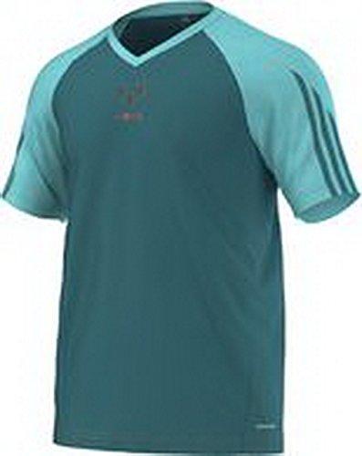 Adidas Messi t-Shirt pour Homme League t-Shirt pour Homme L Vert - Power Teal F14/Solar Orange