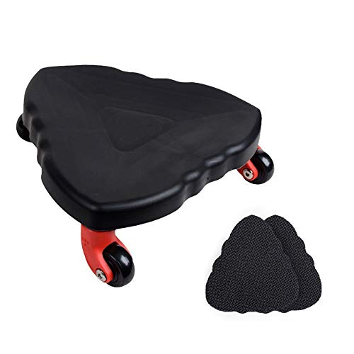 Wgwioo Abdominal Slider Core Fitness Roller Wheel Body Strength Trainer with 2 Mats,Black
