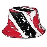 Bucket Hat Unisex Fashion Bucket Hat Packable Breathable Summer Travel Beach Sun Hat Bandera de Trinidad y Tobago