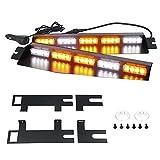 LED Visor Lightbar Emergency Lights for Vehicles Interior Windshield Strobe Split Deck Brackets Mount With Takedown Lights
