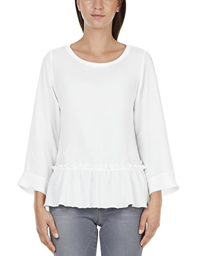 Marc Cain Collections Damen Blusenshirt JC 55.07 J76 Bluse, Weiß (White 100), 36...