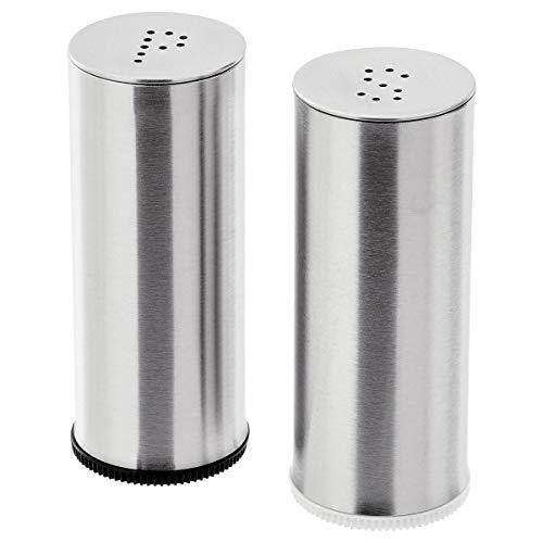 IKEA Salz & Pfefferstreuer Set PLATS, 7cm, gebürsteter Edelstahl