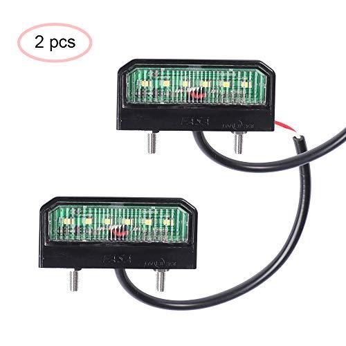 AOHEWEI 2 x LED Kennzeichenbeleuchtung Anhänger Nummernschildbeleuchtung Hinten12~24VWasserdicht Perfekt fürs Auto Anhänger LKWoder Boot (2 stück)