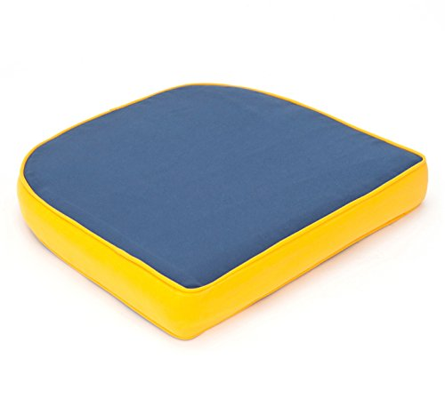 VTB Hambiente Stuhlkissen für Geflechtsessel Hülle mit Reißverschluss abziehbar Waschbar Farbe stahlbau