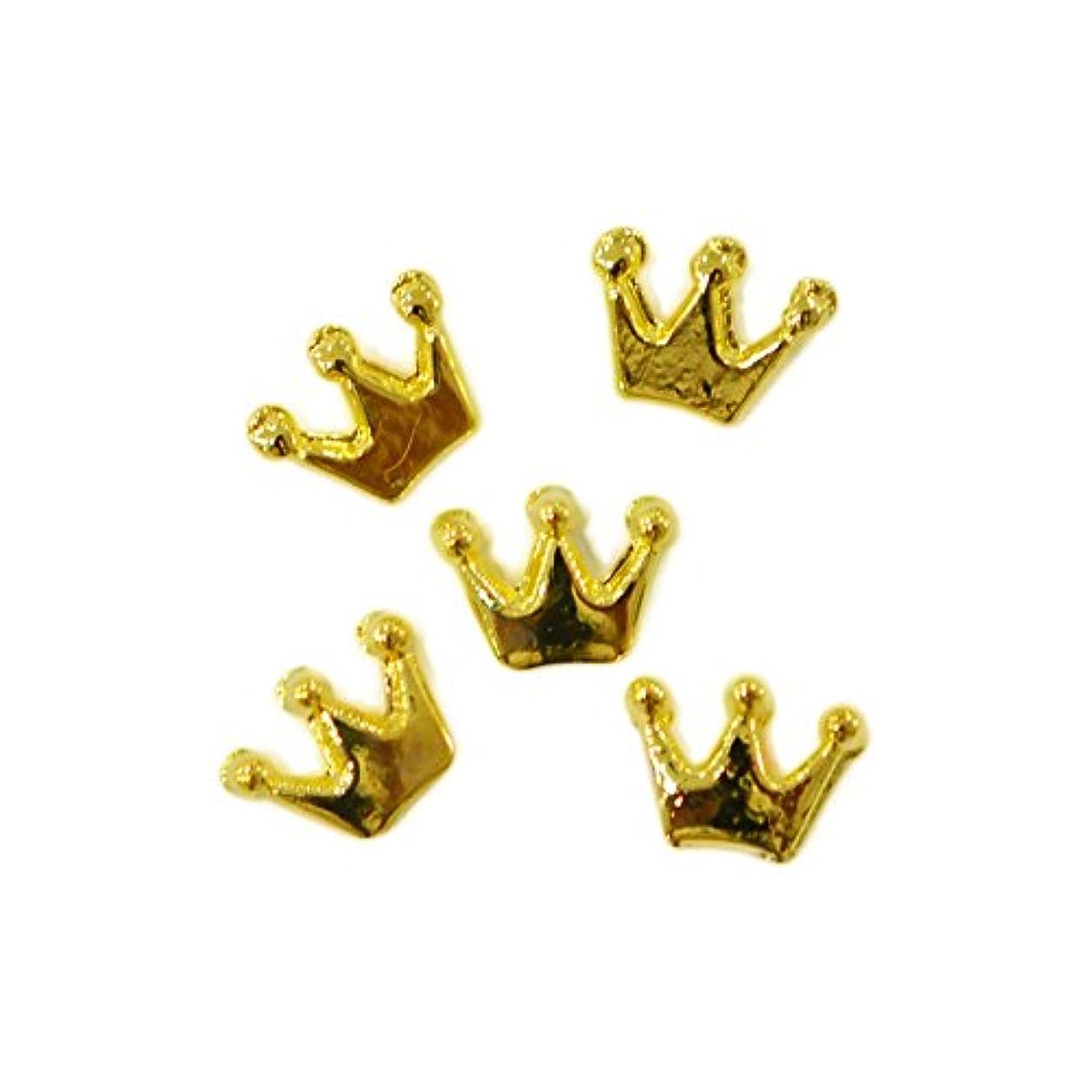 水曜日アスレチック船形メタルパーツ crown 6mm×4mm ゴールド 5個 MP10158 王冠