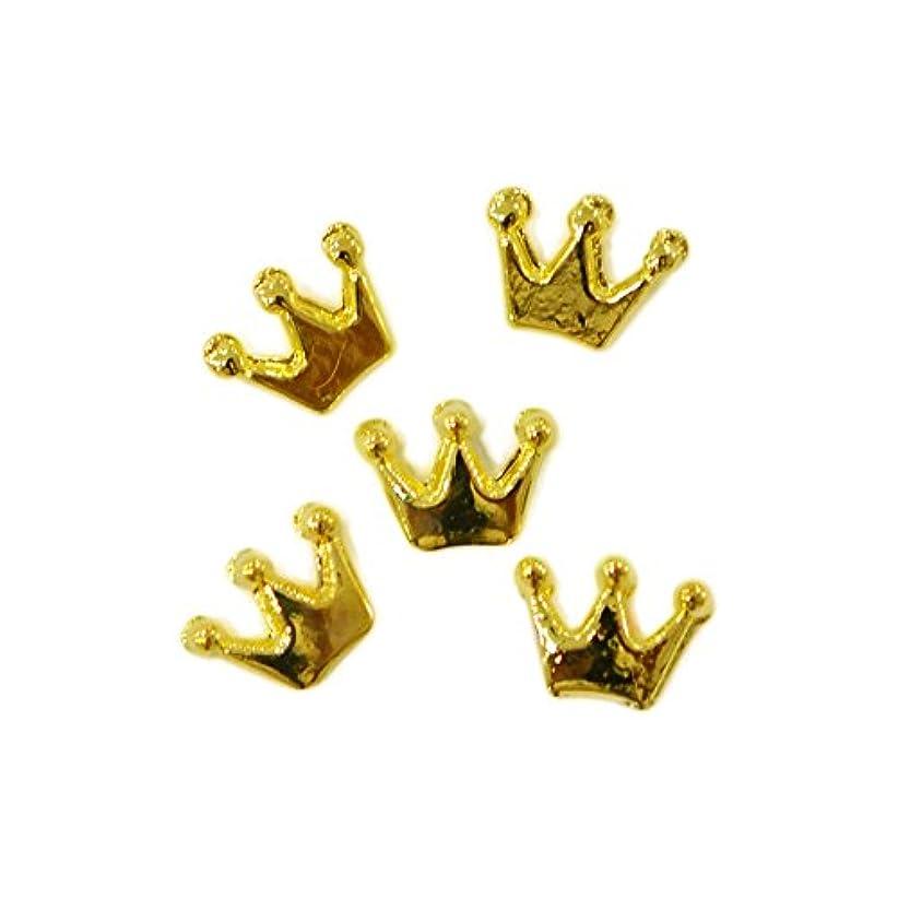 多様体キャンベラ自伝メタルパーツ crown 6mm×4mm ゴールド 5個 MP10158 王冠