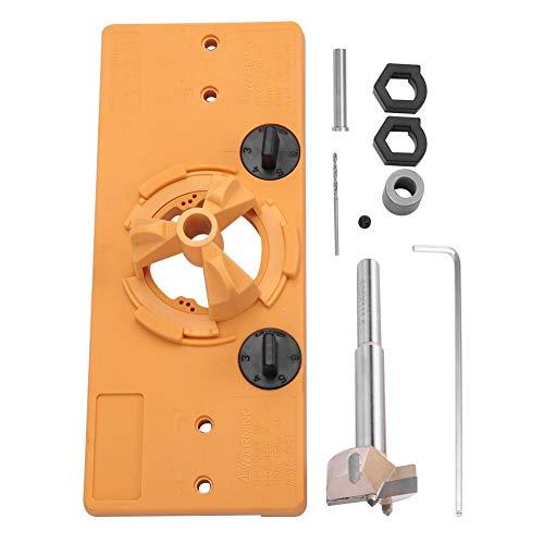 Akozon Foro Sega Slant Hole Sistema 35mm Hinge Boring Jig Guida al Trapano Foro Sega Trapano Fresa Taglierina Door Installation Locator per Fori per Lavorazione del Legno