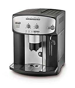 De'Longhi Caffe' Corso Fully Automatic Bean to Cup Coffee Machine,Cappuccino, Espresso Coffee Maker, ESAM2800.SB, Silver and Black