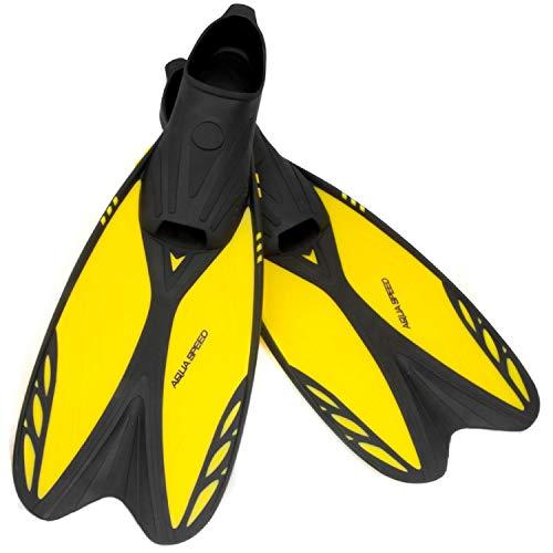 Aqua Speed Flossen | Schwimmbadeflossen | Taucherflossen flexibel | Schwimmflossen langlebig | Tauchflossen | Schwarz - Gelb | Gr. 30-32 | Vapor