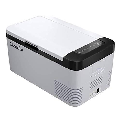 Dreiha CBX18- Nevera Portátil con Compresor CoolingBox 18 litros de Capacidad, Conexiones 12V   24V 0 110V  220V, Enfriamiento de -20ºC a +20ºC