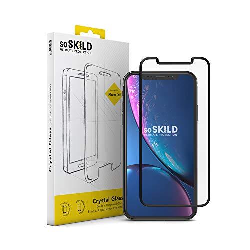 Preisvergleich Produktbild SoSkild iPhone Xr Displayschutzglas - Crystal Double Tempered Glass Screen Protector - Doppelt Gehärtetem Glas Robusten Schutzglas (Black)
