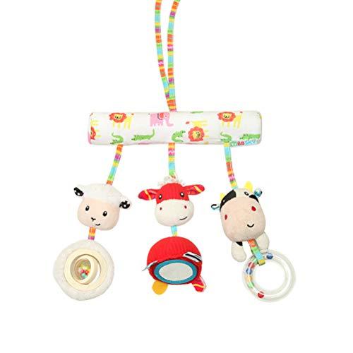 STOBOK Kinderwagenspielzeug Plüschtier Mobile Kette Krippe Bett Auto Sitz Hänge Spielzeug für Baby