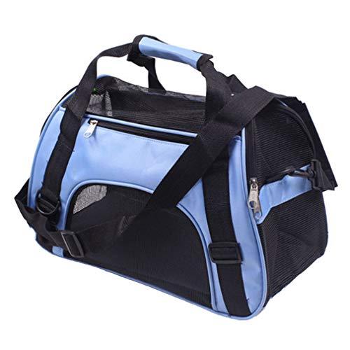 Pet Tasche Haustier Rucksack Hundetransportbox Faltbar Hunde Box Transport Tierbox Tier Tiere Tragbar Handtasche Blau/Lila/Rosa/Schwarz S M L