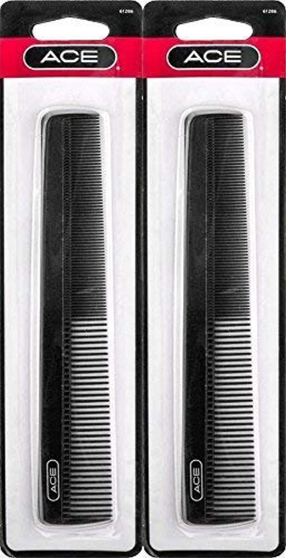 原油コーチ鬼ごっこACE - 61286 All - Purpose Comb (7 Inches) (Pack of 2) [並行輸入品]