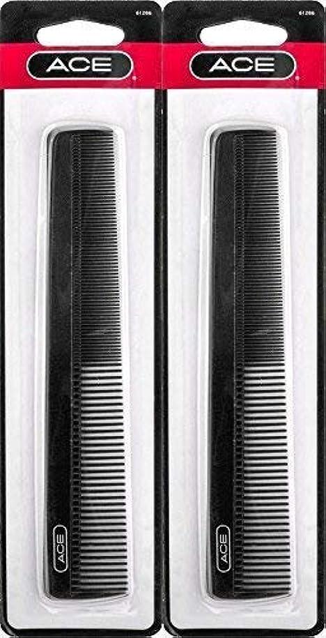 アンビエント死傷者もろいACE - 61286 All - Purpose Comb (7 Inches) (Pack of 2) [並行輸入品]