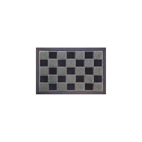 ID MAT Tappeto, Fibre Sintetiche, Grigio, 60x40x1 cm