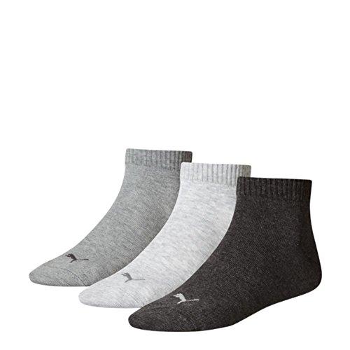 PUMA Quarter 3P – chaussettes de sport pour homme (3 paires) - - 35/38