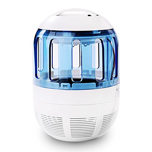 Insektenvernichter Elektrisch Ultravioletter LED Insektenlampe Indoor Mückenfalle Mücken Beseitiger Insektenfalle UV Mückenlampe mit Ventilator, Frei von Chemikalien für zu Hause von Fochea