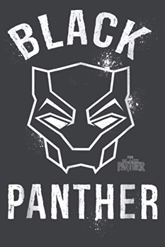 Marvel Black Panther Movie Collegiate Graffiti Mask: Notebook Planner -6x9 inch Daily Planner Journal, To Do List Notebook, Daily Organizer, 114 Pages