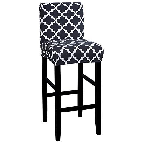 Cysincos Bar Stuhlhussen, Stretch Abnehmbarer Barhocker Schonbezug Elastisch Überzug für Barstuhl Stuhlbezug Sitzschutzbezug für Short Swivel Dining Chair