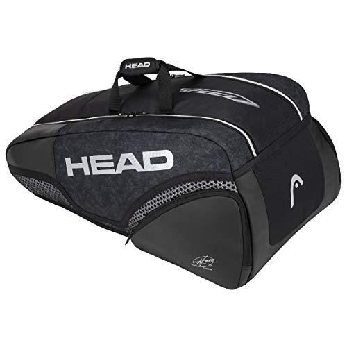 Head Djokovic 9R Supercombi - Sacca sportiva classica, colore: nero, 7-9 racchette