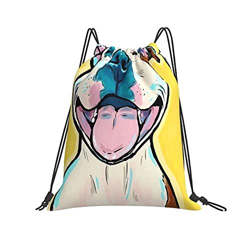 QUEMIN Bolsa clásica con cordón Rosa pálido y Azul Bokeh sobre Fondo Verde Azulado Oscuro Bolsa de Saco de Gimnasio Mochila con cordón Bolsa de Deporte de poliéster para Hombres y Mujeres