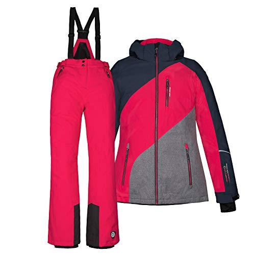 Killtec Kinder Skianzug Größe 152 Schneeanzug 2 TLG. Skijacke + Skihose - dunkelnavy pink - Winddicht wasserdicht