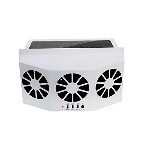 Yousiju Ventilador de escape solar para ventilación de coche Sistema de ventana de ventilación de parabrisas 3Fan Camper RV Caravan Marine Solar (Color : White)