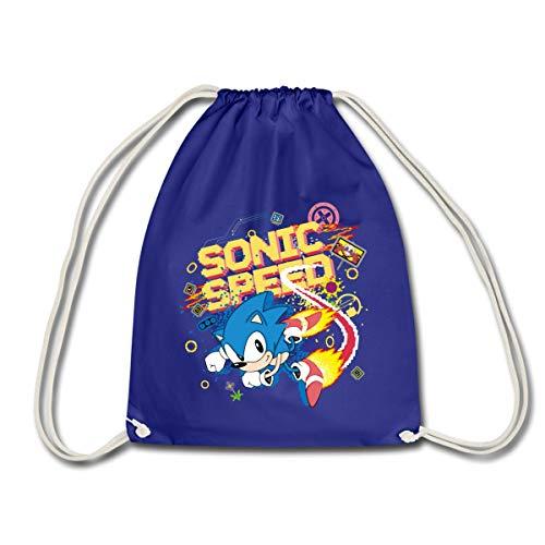 Spreadshirt Sonic The Hedgehog Speed Sac À Dos Cordon, bleu roi