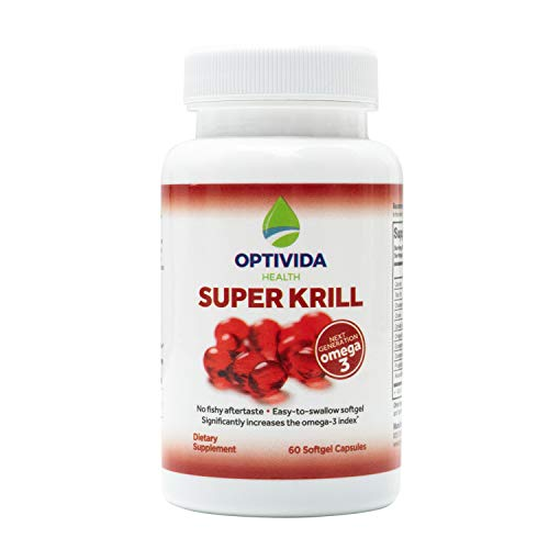 Super Krill, The Next Generation Nutrient Rich Omega-3 Supplements, Helps Support Brain & Eye Health, Assists Aches & Pains, Contaminant-Free Omega-3s, 60 Softgel Capsules