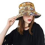 Merry-go-Round Caballos de Madera Nuevo Verano Algodón Unisex Moda Pesca Sol Bucket Sombreros para niños Adolescentes Mujeres y Hombres con Personalizar Top Empaquetador de Pescadores para Viajes