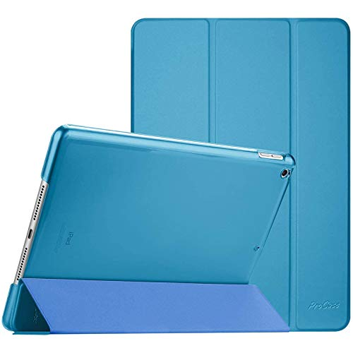 ProCase iPad 10.2 Case 2019 iPad 7th Generation Case, Slim Stand Hard Back Shell Protective Smart Cover Case for iPad 7th Gen 10.2 Inch 2019 (A2197 A2198 A2200) –Lightblue