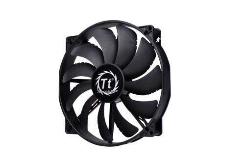 Thermaltake Pure 20/Fan/200mm/800rpm/Black ケースクーラーファン 日本正規代理店品 FN716 CL-F015-PL20BL-A
