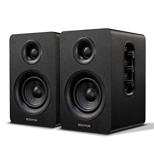 "Sanyun SW208 3"" Active Bluetooth Bookshelf Speakers"