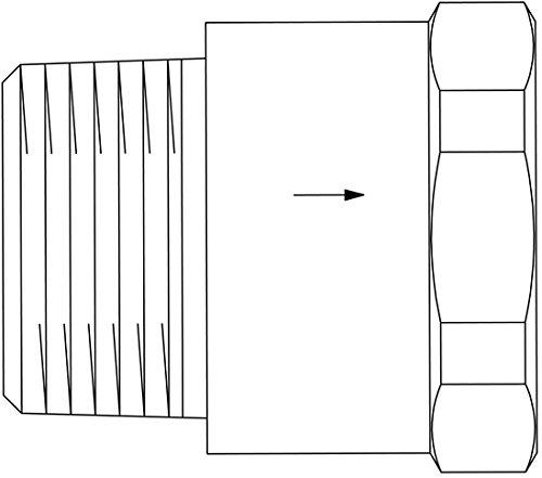 Oventrop Gasströmungswächter GS lageunabhängig, Stahl DN 25, 2,5 K 3028731