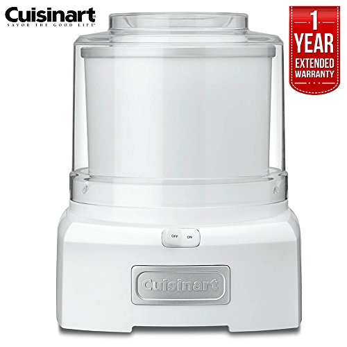 Cuisinart ICE-21FR Frozen Yogurt-Ice Cream & Sorbet Maker 1.5 Quarts (Renewed) with 1 Year Extended Warranty