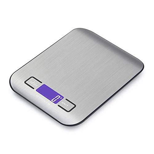 CYONGYOU Báscula electrónica de cocina para el hogar de la báscula de alimentos LCD digital de la pantalla de pérdida de peso escala