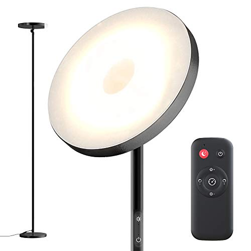Floor Lamp,30W Sky Super Bright 2800K-7000K Torchiere Floor Floor Lamp with Timer, 2800lumens LED Floor Lamp with Stepless Dimmer&4 Color Temperatures,Standing Lamp for Living Room,Bedroom,Office
