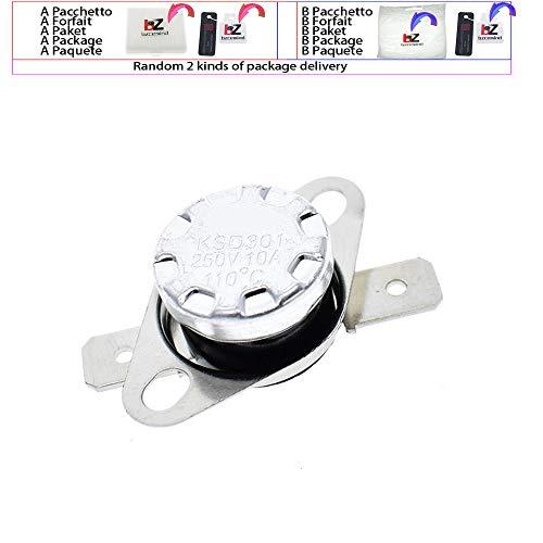 KSD301 Thermostat, 250 V, 10 A, normal geschlossen, NC Thermostat, Temperaturregelschalter, DegC 40C-135C für Arduino