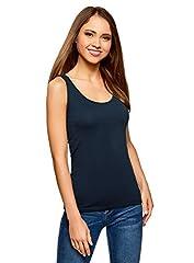 oodji Camiseta Tirantes Básica Mujer