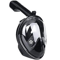 Das Leben Tauchmaske, vollmaske, kurzsichtige Tauchmaske mit 180 Grad Blickfeld für Erwachsene und Kinder (schwarz(neu), S)