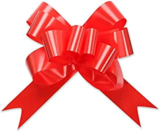 Berwick Offray 3900013 Butterfly Ribbon Pull Bow, 2'' Diameter with 8 Loops, Red 100 Pieces