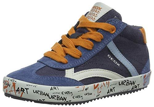Geox Jungen J Alonisso Boy G Hohe Sneaker, Blau (Navy/Dk Orange C4218), 36 EU
