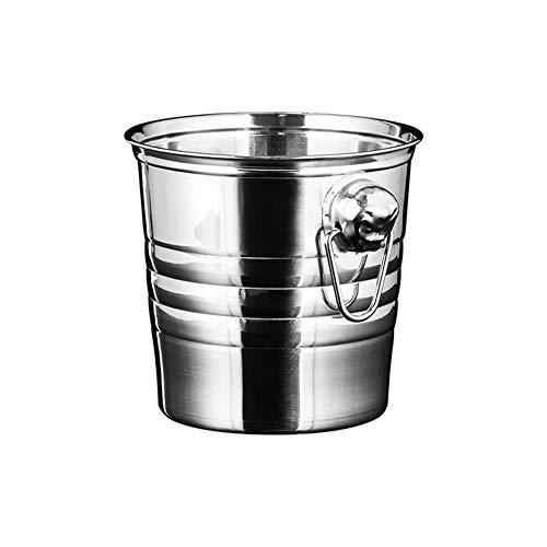 ESGT Recipiente para Cubos De Hielo De Acero Inoxidable Portátil Barril De Champán con Asa Recipientes para Cubos De Hielo Ktv Club Bar Tools para Uso En Bares Domésticos