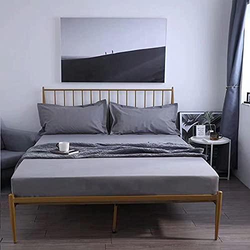 CYYyang Protector de colchón/Cubre colchón Acolchado de Fibra antiácaros, Transpirable, Sábana Impermeable con impresión Todo Incluido-6_150 * 200cm