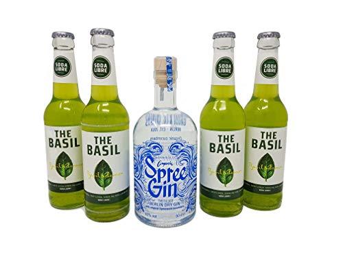 BIO Spree Gin - Berlin Dry Gin 0,5 mit Soda Libre Basil (4x 0,33)