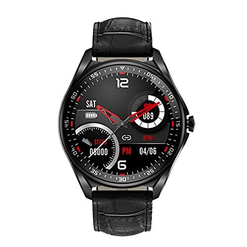 QNMM Inteligente Reloj para Los Hombres, 1,28' Ronda De Pantalla Táctil Jugador Sangre Corazón Tasa de Presión Oxímetro de Música del Paso Deportes SmartWatch para iOS Y Android