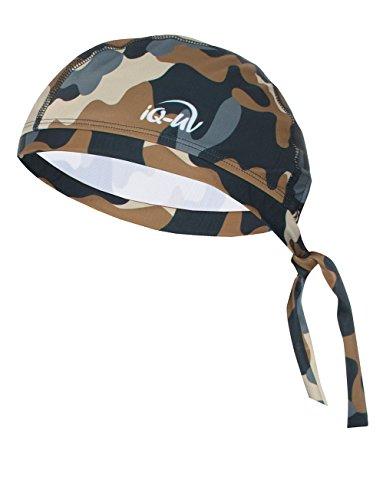 iQ-UV 300 Bandana, UV-Schutz Kopftuch, Colorido Olive, XL (61cm)